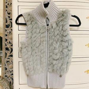Armani Exchange Knit Fur Vest
